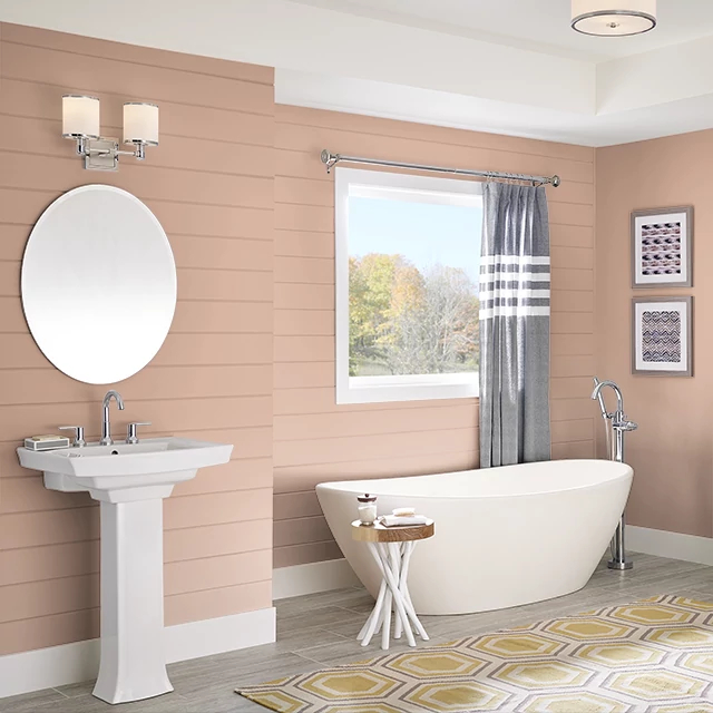 Bathroom painted in TAN BLUSH