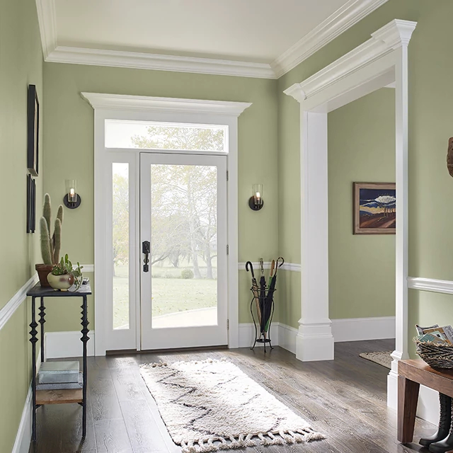 Foyer painted in ROSEMARY PLANT