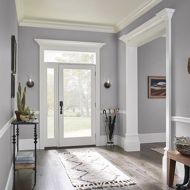 Foyer painted in PIGEON GRAY