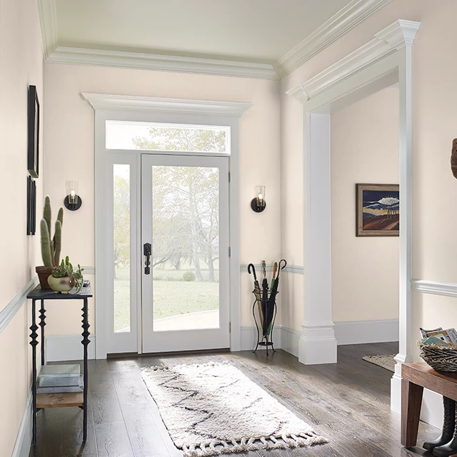 Foyer painted in VANILLA CHAI