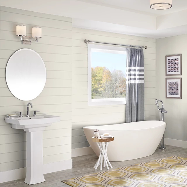 Bathroom painted in FRENCH CANVAS