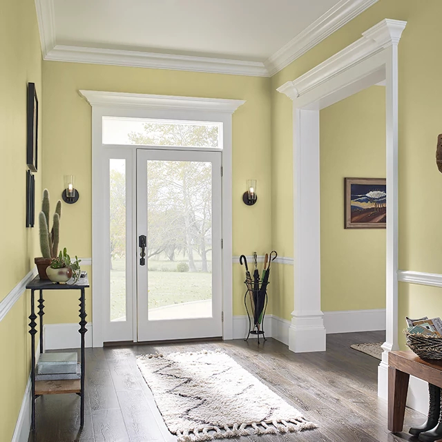 Foyer painted in LIME TART