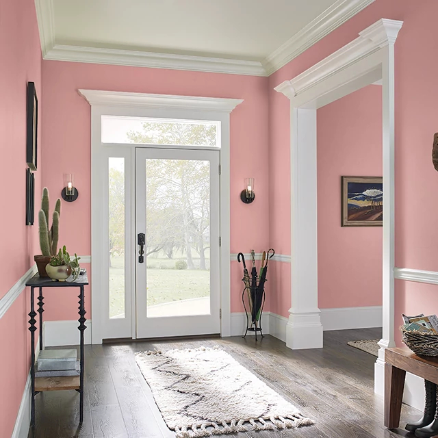 Foyer painted in CANYON BLOSSOM