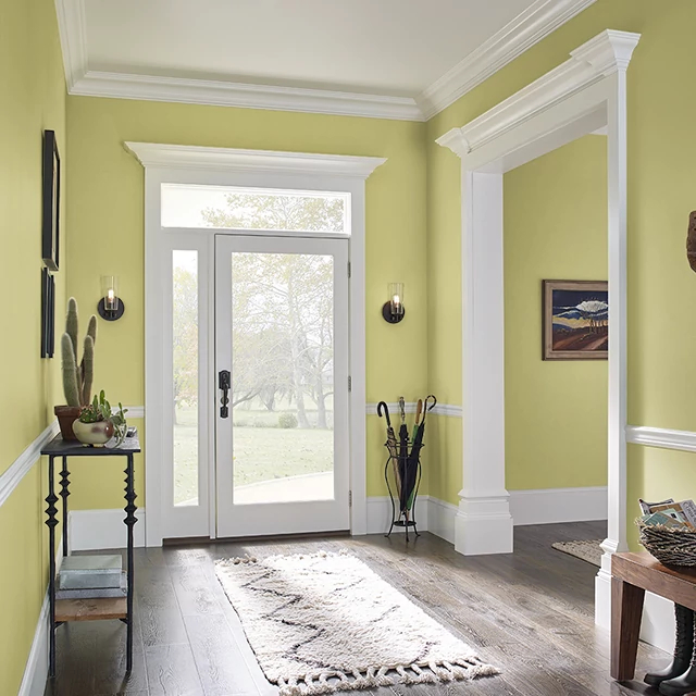 Foyer painted in WASABI WASH