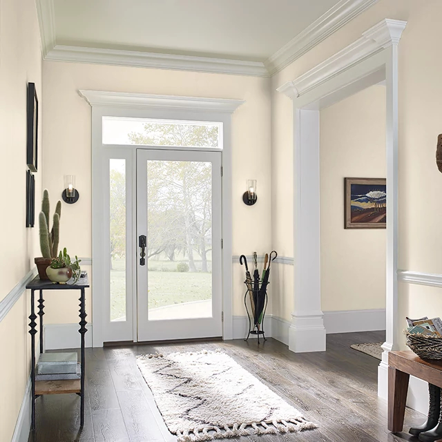 Foyer painted in CUPCAKE FROSTING