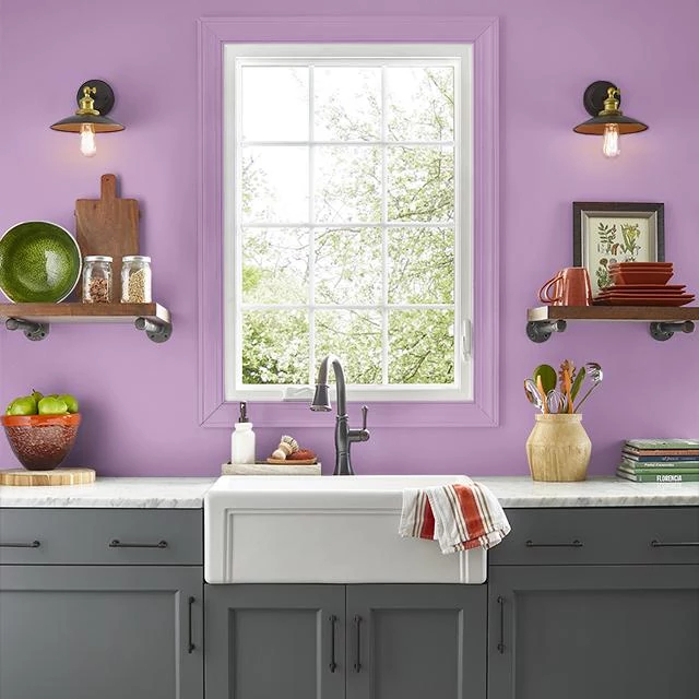 Kitchen painted in INDULGENCE