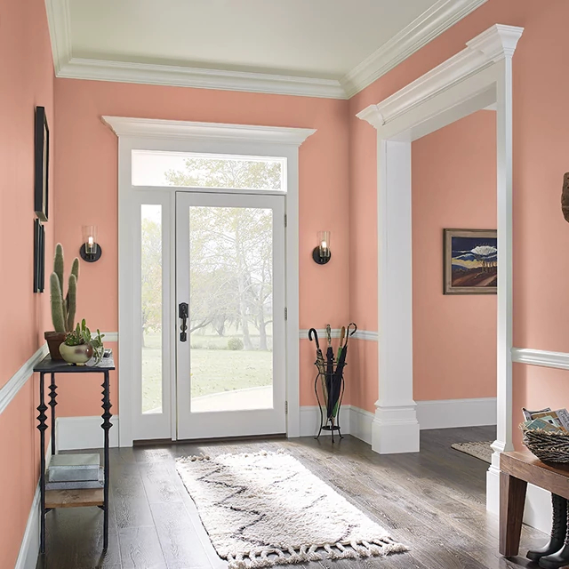 Foyer painted in SWEET PAPAYA