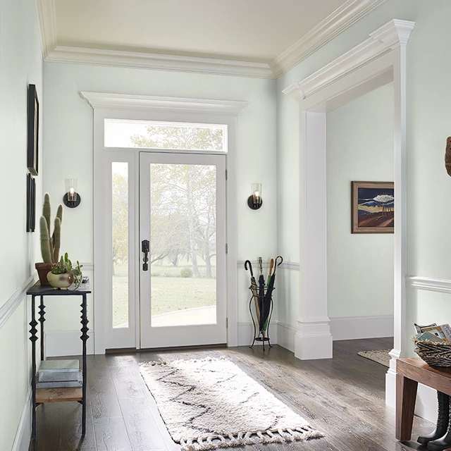 Foyer painted in TOUCH OF LIME