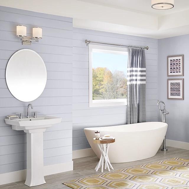 Bathroom painted in TWILIGHT SPELL
