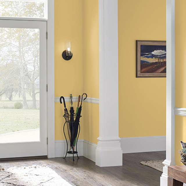 Foyer painted in JAZZ AGE YELLOW