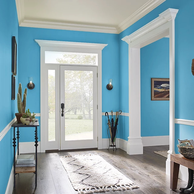 Foyer painted in SERENE STREAM
