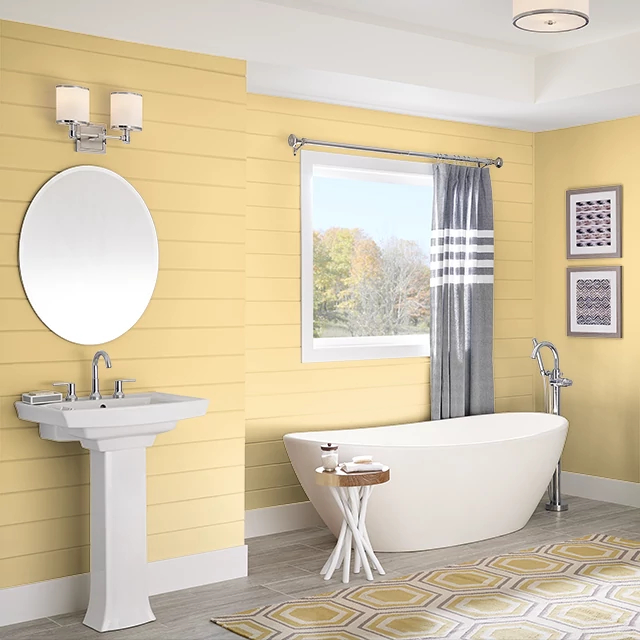 Bathroom painted in FRESH CITRUS