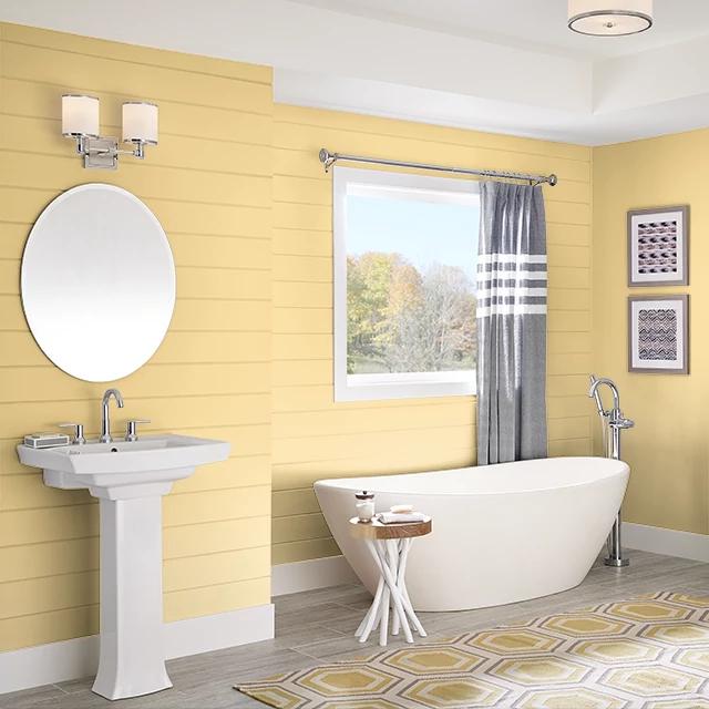 Bathroom painted in FRESH CITRUS