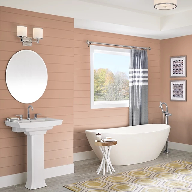 Bathroom painted in MAMEY SHAKE