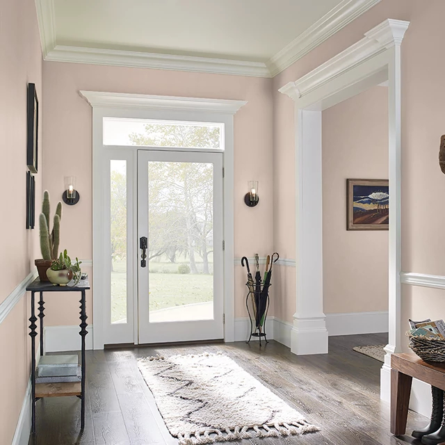 Foyer painted in WOOL STOCKINGS