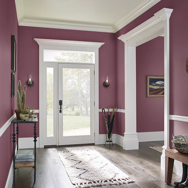Foyer painted in RASPBERRY MACAROON
