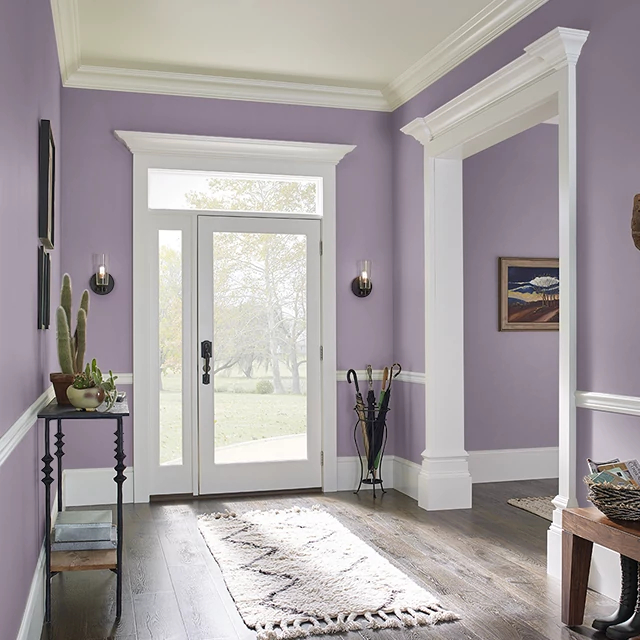 Foyer painted in PLUM NOTION