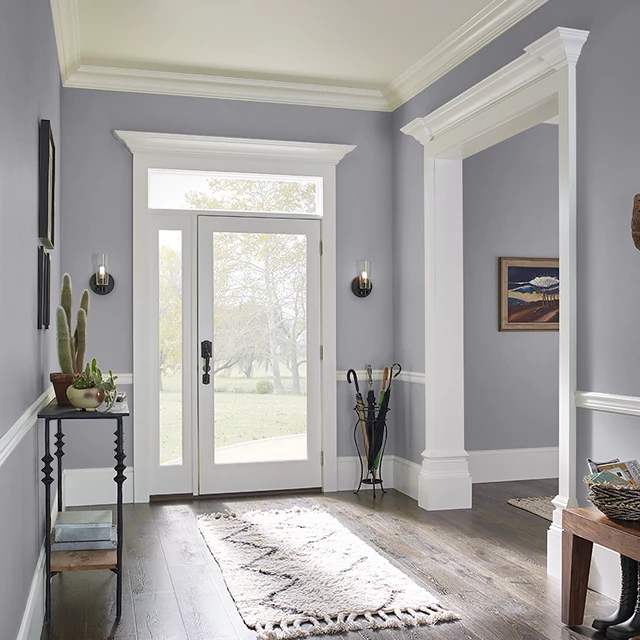 Foyer painted in SHARK
