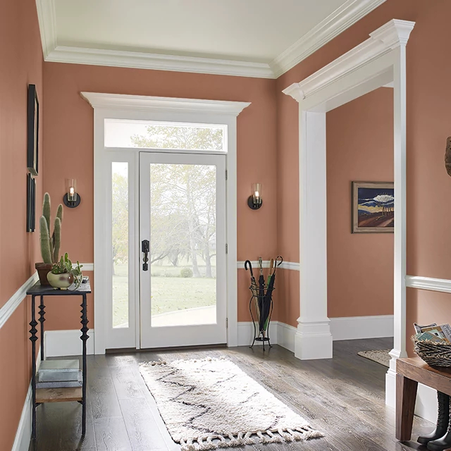 Foyer painted in ROASTED PUMPKIN