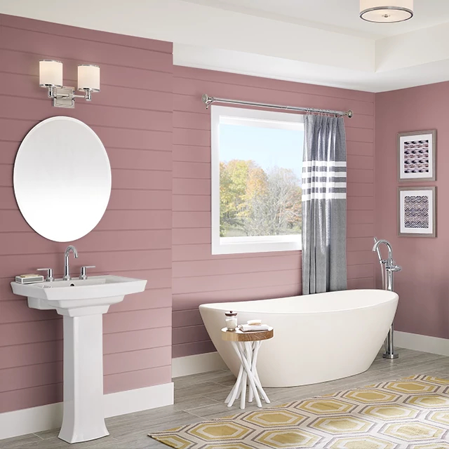 Bathroom painted in AUTUMN ASPEN
