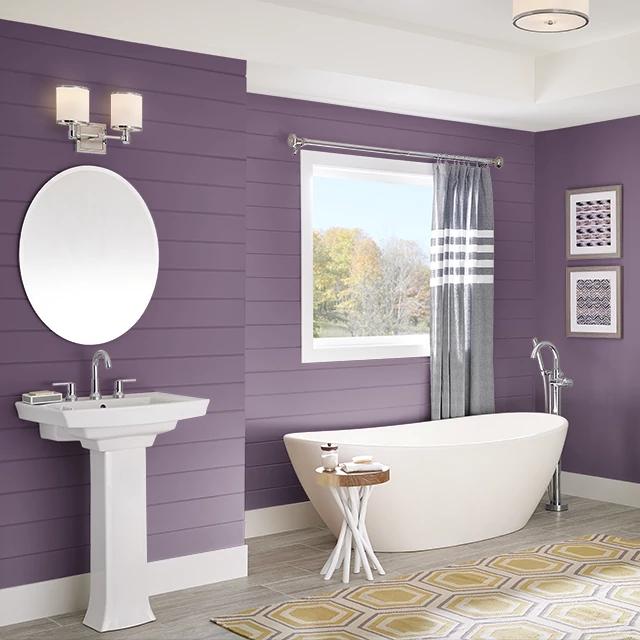 Bathroom painted in SUCCULENT
