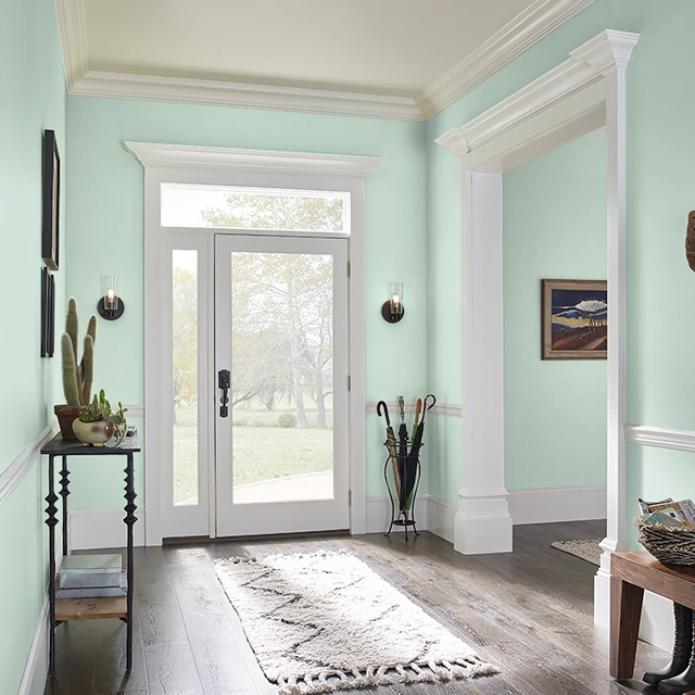 Foyer painted in JULEP