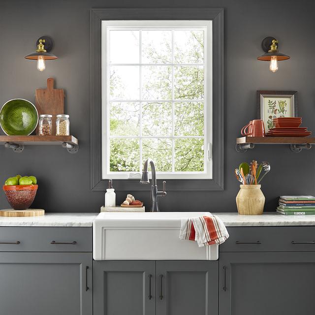 Kitchen painted in TRUE BLACK