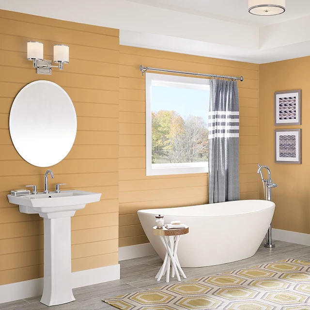 Bathroom painted in DINGO