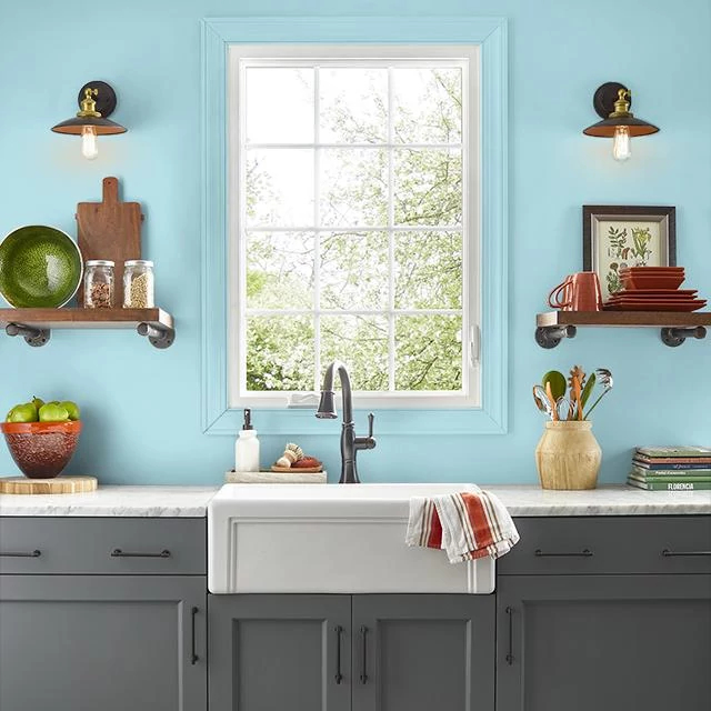 Kitchen painted in CLOUD BREAK