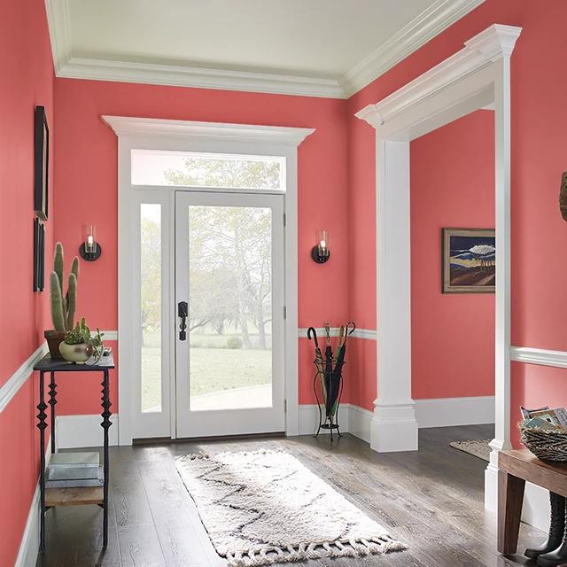 Foyer painted in HIBISCUS TEA
