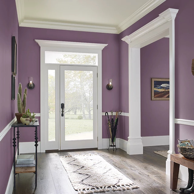 Foyer painted in GYPSY PLUM