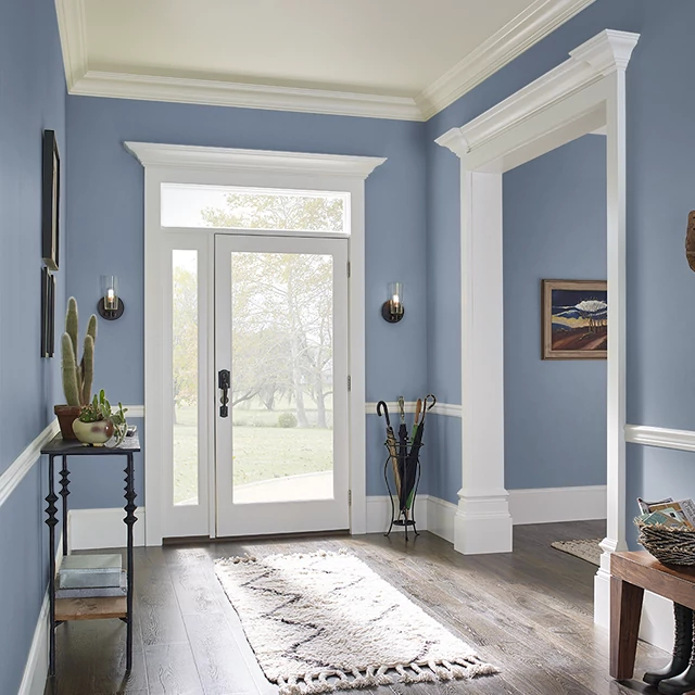Foyer painted in NORTH BEACH BLUE
