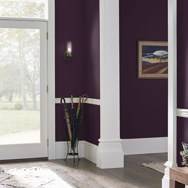 Foyer painted in BEETROOT PURPLE