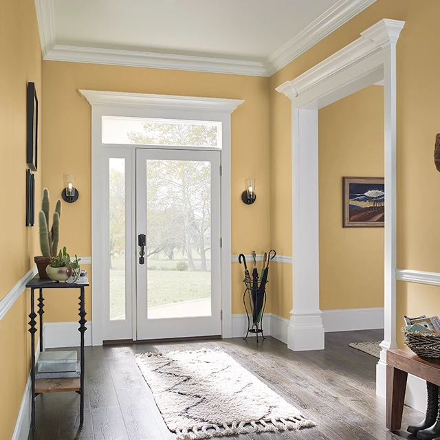 Foyer painted in BRASS CHARM