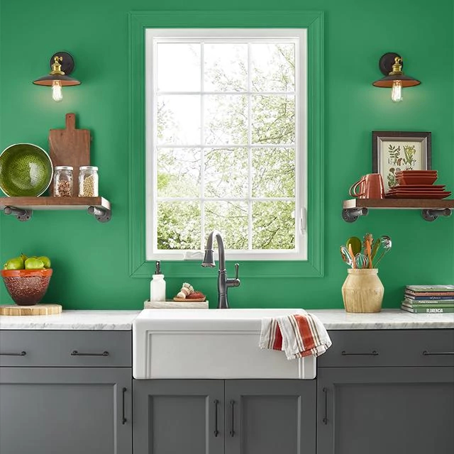 Kitchen painted in MAGICAL HUMMINGBIRD