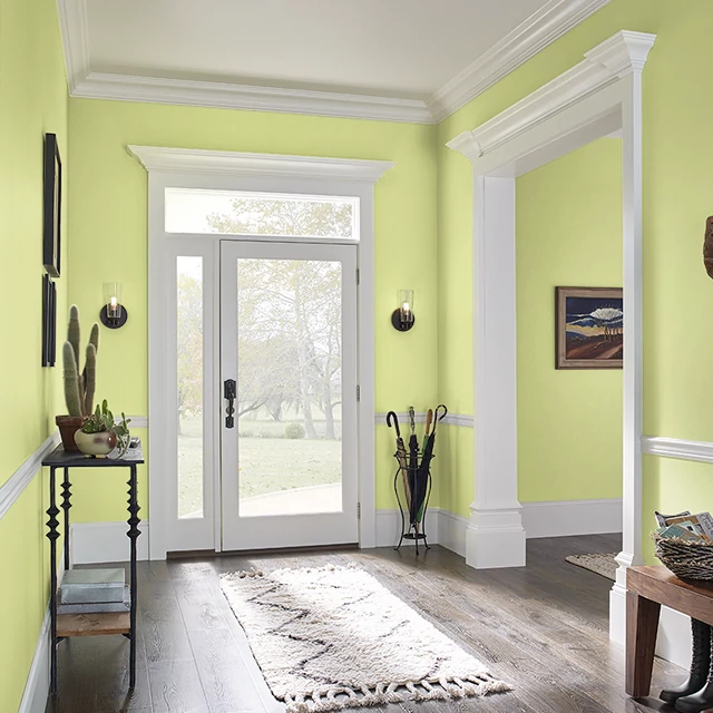 Foyer painted in SASSY LIME