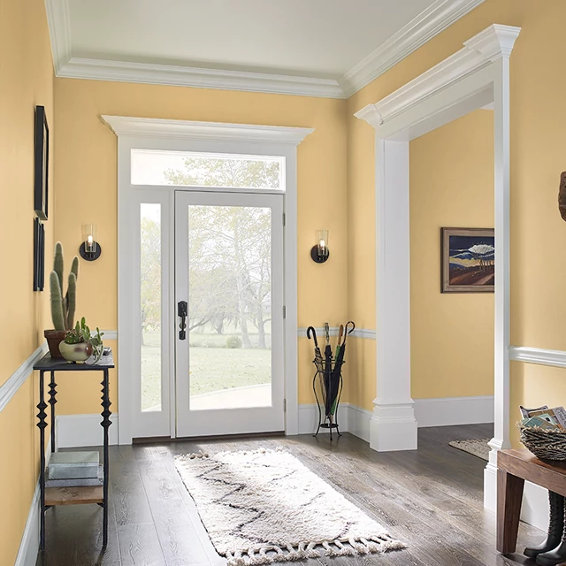 Foyer painted in HONEY BEE