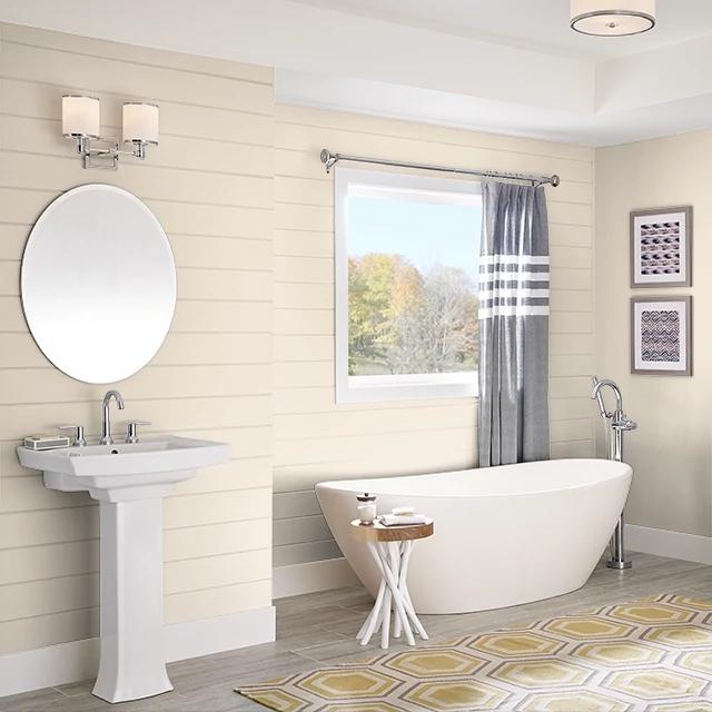 Bathroom painted in BAKED CUSTARD