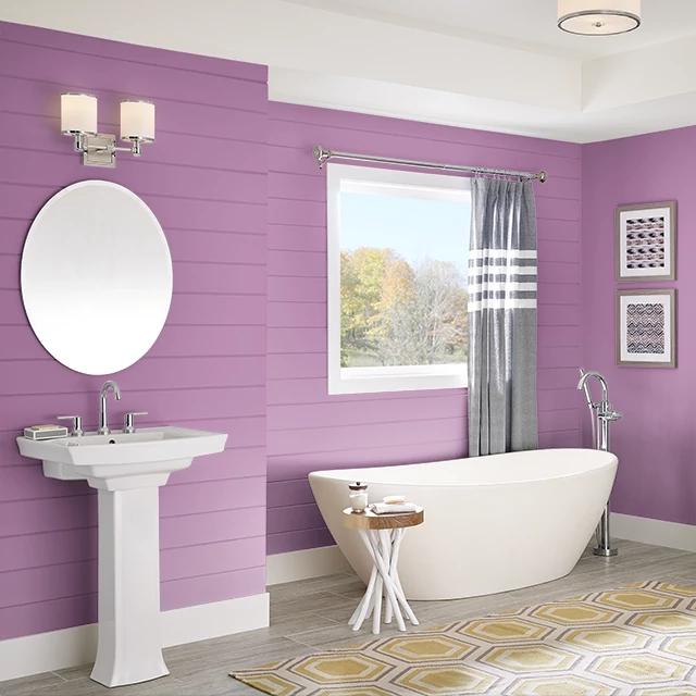 Bathroom painted in FAVORITE THINGS