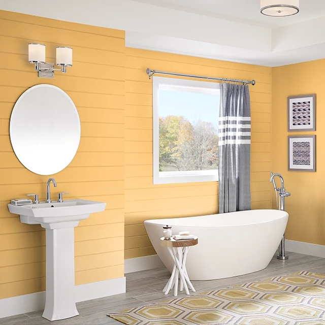 Bathroom painted in HALO GOLD