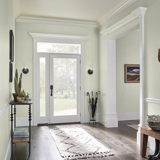 Foyer painted in SILVER FERN