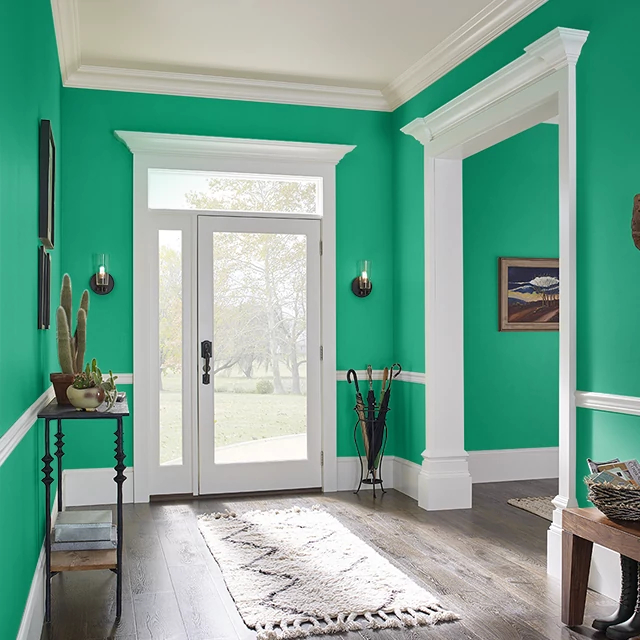 Foyer painted in BEJEWELLED
