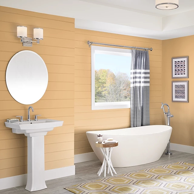 Bathroom painted in BUTTERSCOTCH SAUCE