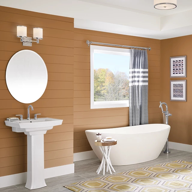 Bathroom painted in AUTUMN SPICE