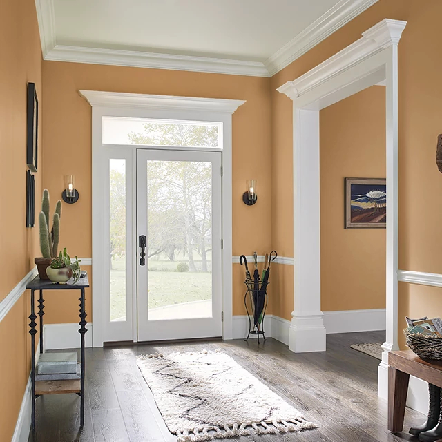 Foyer painted in GOLDEN SUNRISE