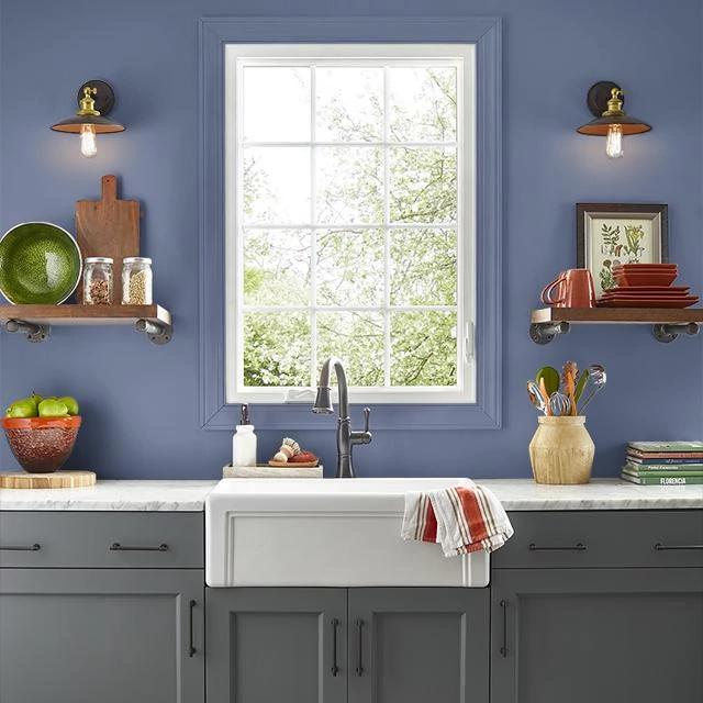 Kitchen painted in PURPLING