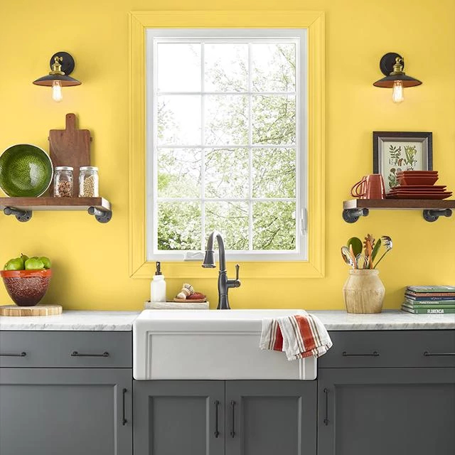 Kitchen painted in WAKE UP