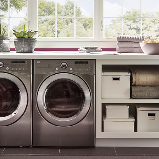 Laundry painted in CRIMSON VELVET
