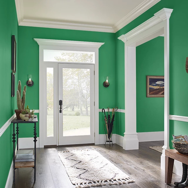 Foyer painted in MAGICAL HUMMINGBIRD
