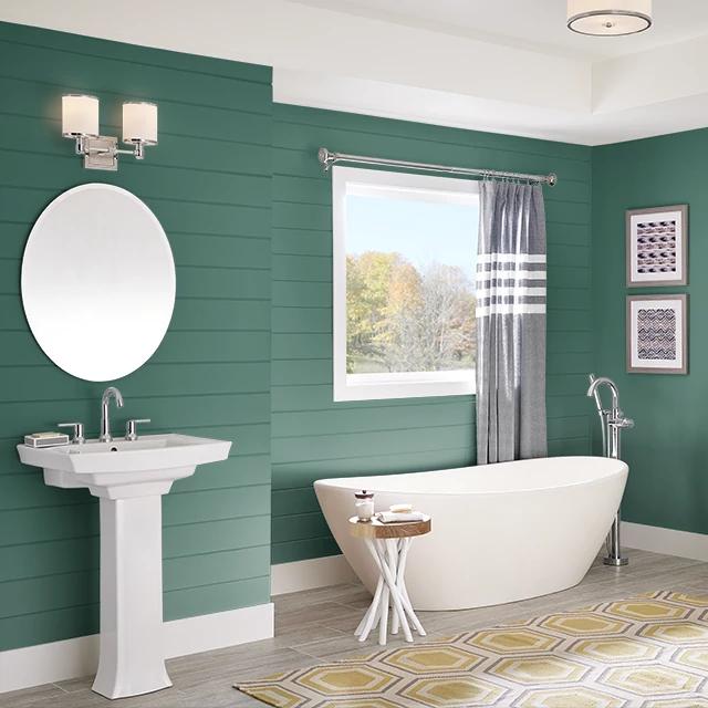 Bathroom painted in ARGYLL